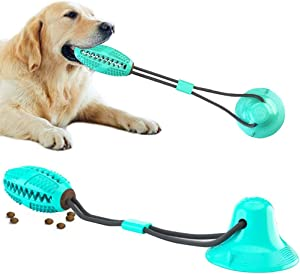 WLHOPE Super Suction Dog Sucker Toy Chewing Tug of War Toys for Small and Medium Sized Dogs to Play at Home Increasing The Interaction Between The Owner and The Dog (Blue)