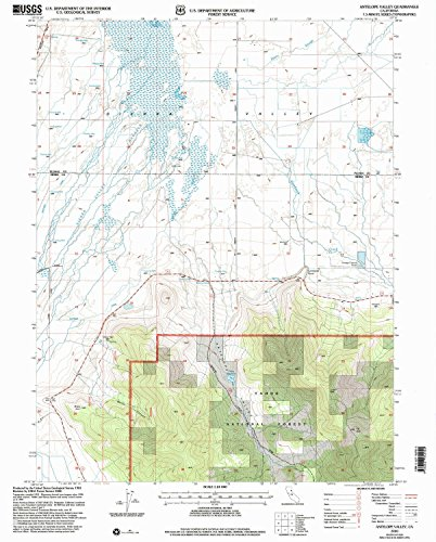 Antelope Valley CA topo map, 1:24000 scale, 7.5 X 7.5 Minute, Historical, 2000, updated 2003, 26.6 x 21.4 IN - - Valley Antelope Ca Map Of