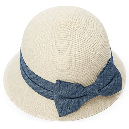 Siggi Womens Floppy Summer Sun Beach Panama Straw Hats SPF50+ Crushable Bucket Cloche Hat 56-59cm - Size 58 Hat