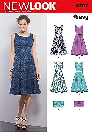 New Look Damen Schnittmuster 6393 Kleider und Kupplung Taschen ...