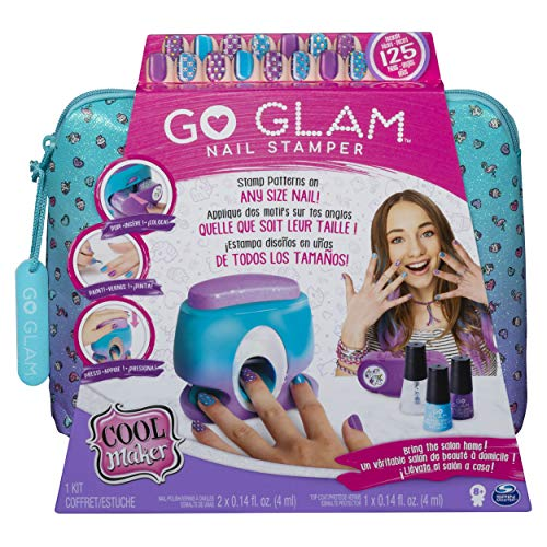 Cool Maker 6045484 GO Glam Nail Stamper, Nail Studio with 5 Patterns to Decorate 125 Nails, Multicolour