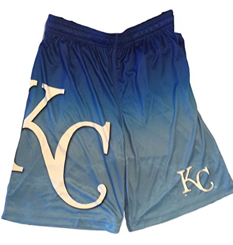 (Mens Gradient Big Logo Training Shorts Kansas City Royals (X-Large/38))