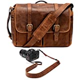 ONA Brixton Camera/Laptop Messenger Bag (Leather, Antique Cognac) and Presidio Crossbody Leather Camera Strap