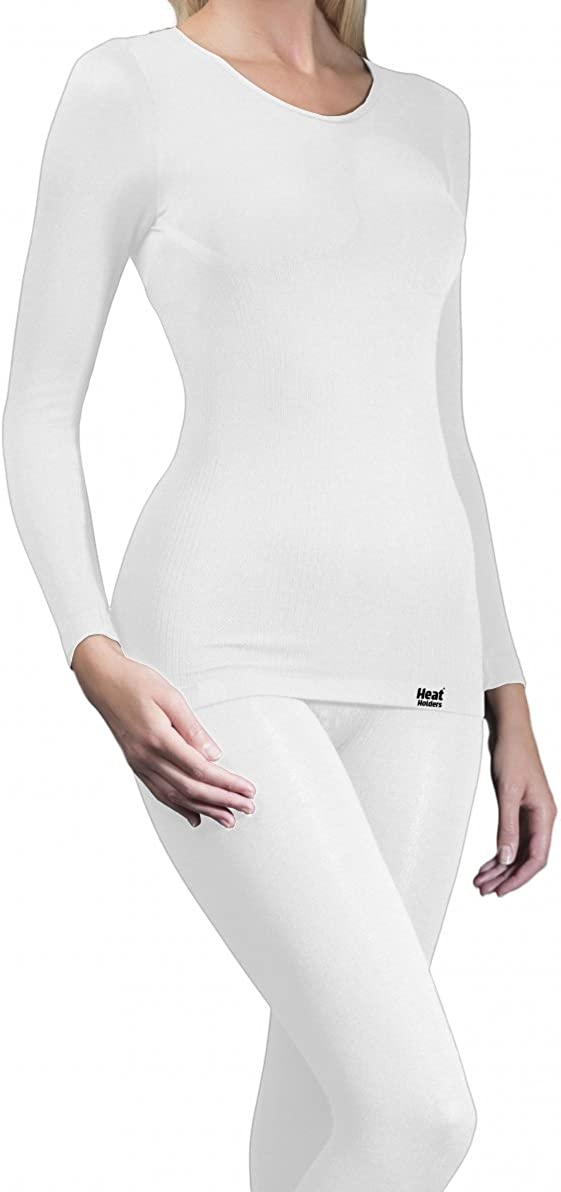 Ladies Warm 1//4 Zip Thermal Microfleece Base Layer Long Sleeve Top HEAT HOLDERS