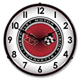 New C3 Corvette Retro Vintage Style Advertising Backlit Lighted Clock – Ships Free Next Business Day to Lower 48 States Review