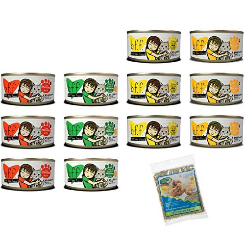 Cheap Weruva Grain Free Best Feline Friends (BFF) Canned Cat Food 4 Flavor Variety Pack – 3 Ounces Each (12 Cans Total) and (1) 0.5 Ounce Bag of Catnip