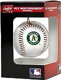 Jarden Sports Licensing MLB Oakland Athletics Unisex MLB OS PDQ Oakath Ornmt Bbmlb OS PDQ Oakath Ornmt BB, Green/Yellow, Small