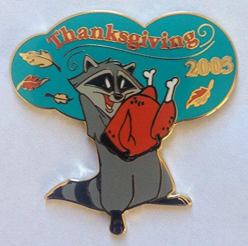 Disney Pin 26904 DLR- Cast 2003 Thanksgiving Day Gift - Meeko Pin Pocahontas Raccoon