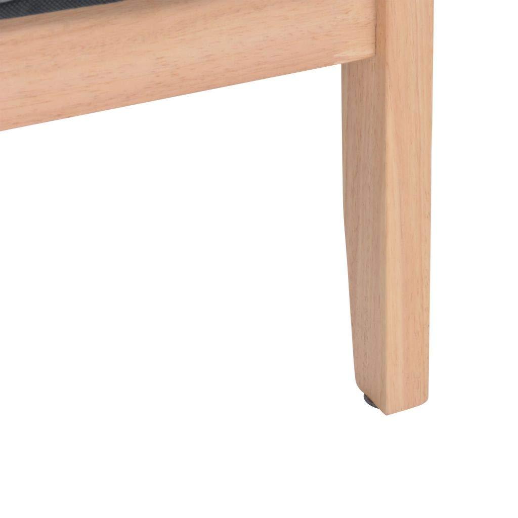 Vislone Sof/á Salon Retro Ser/á con Estructura de Madera Tapicer/ía de Tela Gris Claro 113,5x67x73,5cm