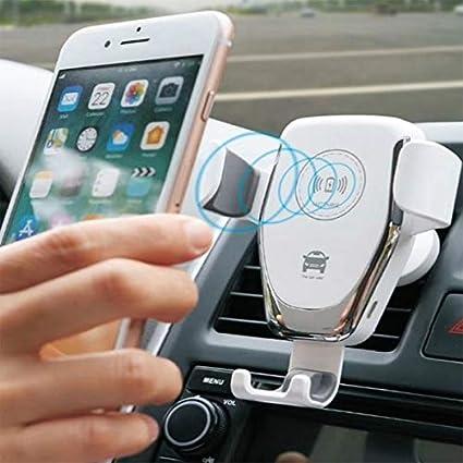 Cargador inalámbrico para coche, soporte de teléfono ...