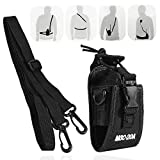 Zerone Universal Walkie Talkie Nylon Belt Case Bag with Adjustable Shoulder Strap Two Way Radio Holder Holster Case MSC-20A For Kenwood/Motorola/HYT Two-Way Radio