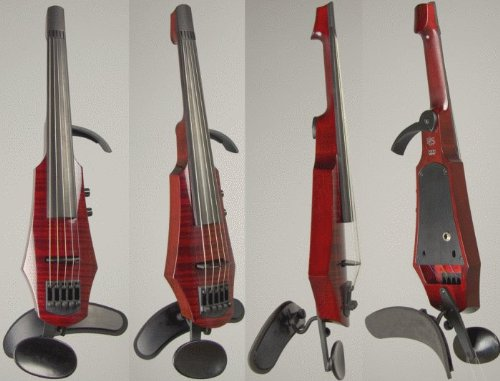 NS Design WAV5 Electric Violin, Transparent Red