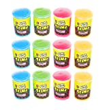 Glow In The Dark Slime - Bulk Pack Of 12 Assorted Colors Slime