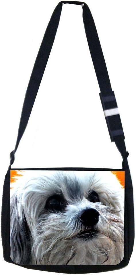 Poodle Up-Close Lea Elliot TM Laptop Messenger Bag