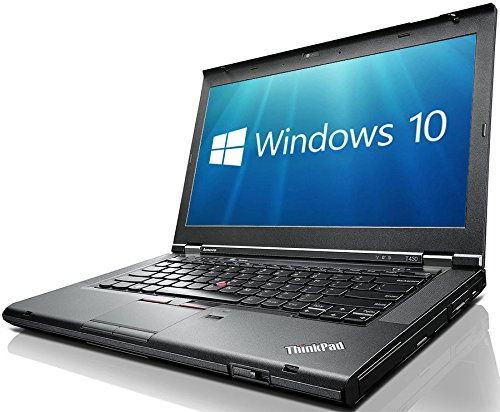 "Lenovo ThinkPad T430 14.1"", Core i5-3210M, 8GB RAM, 240GB SSD, DVDRW, WiFi, USB 3.0, Windows 10 Professional 64-bit (Certified Refurbished)"