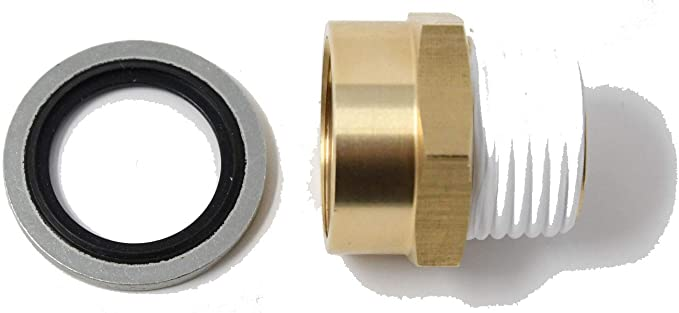 BSP to NPT G Thread US Thread Pipe Fitting Adapter with G Thread Bonded Washer Seal Included 1//2 FG x 1//2 MNPT 2 Pieces