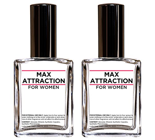 Max Attraction for Women - Pheromones to Attract Men (2 Bottles Special Offer Discount) by LuvEssentials