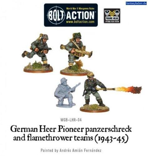 German Heer Pioneer Panzerschrek Flame Miniatures