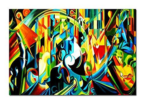 elOleo Ölgemälde 60x90 Bild auf Leinwand Oberflächenschutz glanz 90084AFG