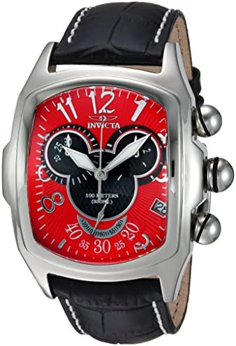 Invicta Men s Disney Limited Edition Quartz Stainless Steel and Leather Casual Watch