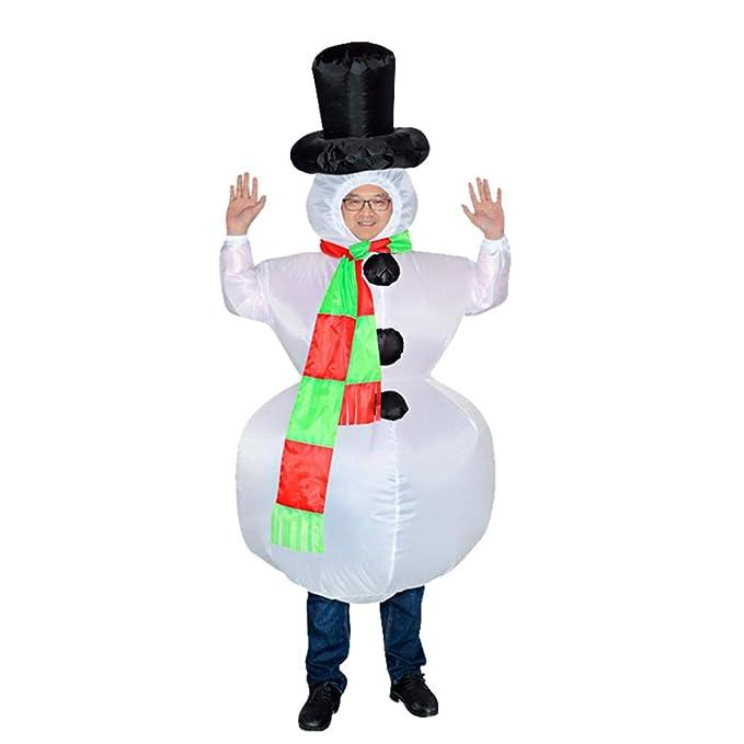 Amazon.com: Disfraz hinchable de muñeco de nieve, para ...