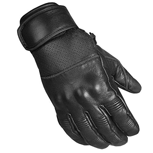 - Men's Motorcycle Ventilated Leather Armor Gel Padded Reflective Biker Gloves L