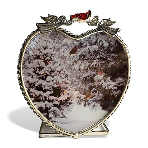 Banberry Designs Cardinal Candleholder - Winter Scene with Red Cardinals in a Snowy Forest - Glass Tea Light Christmas Candle Holder