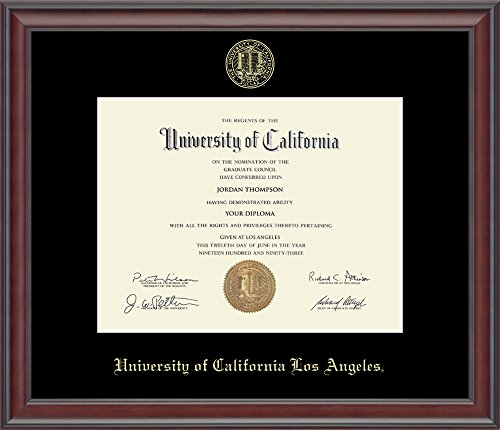 Church Hill Classics UCLA Gold Embossed Diploma Frame - Solid Hardwood