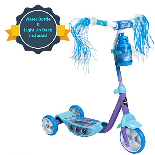 Huffy Disney Frozen Preschool Scooter W/Lights, Streamers & A Water Bottle