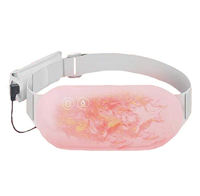 Wang Electric Heating Belly Warmer Waist Belt Vibration Massage Cares Uterus Avoids Palace Cold and Menstrual Pain: Sports & Outdoors