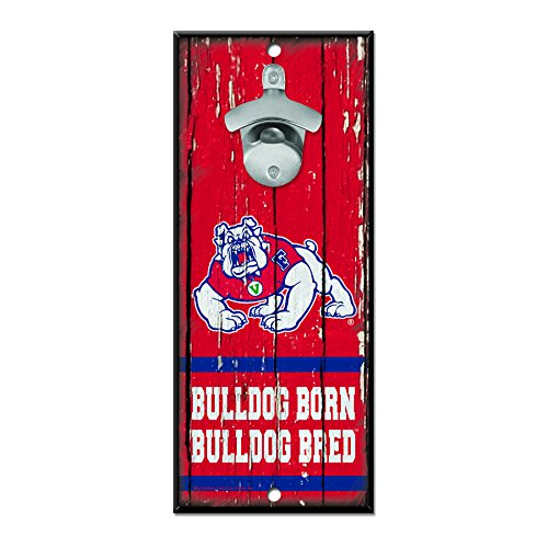 WinCraft NCAA Fresno State Bulldogs Wood Bottle Opener Sign, 5