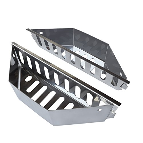 Stainless Steel Charcoal Basket for BBQ Grills and Kettles - Heavy Duty Briquette Holder for Charcoal, Wood Chips - Accessories and Utensils for Meat Grilling and Smoking (Holder Charcoal Weber)