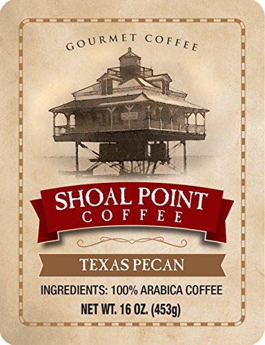 Texas Pecan Gourmet Ground Medium Roast Coffee 100% Arabica Coffee Beans 16 oz. ()
