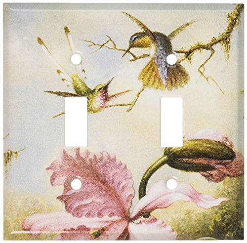 Art Plates - Heade: Orchids & Hummingbirds Switch Plate - Double Toggle ()