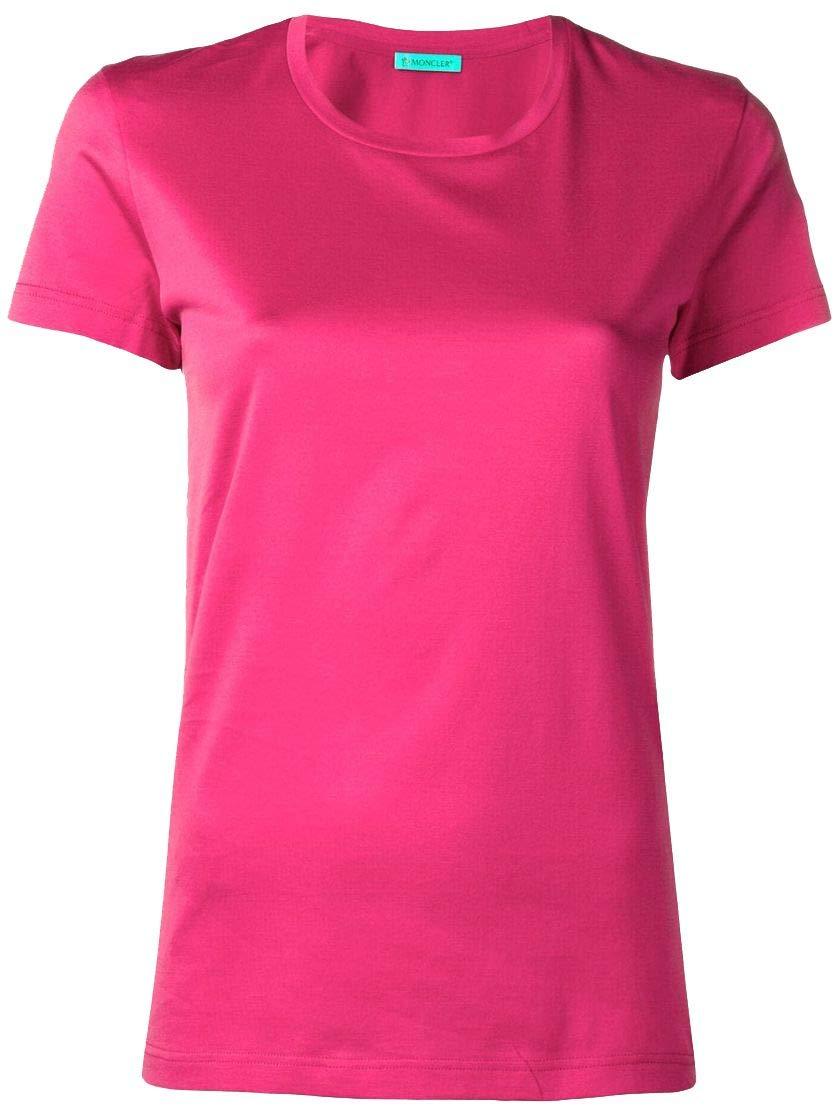 Moncler Women's 80862008390X522 Fuchsia Cotton TShirt