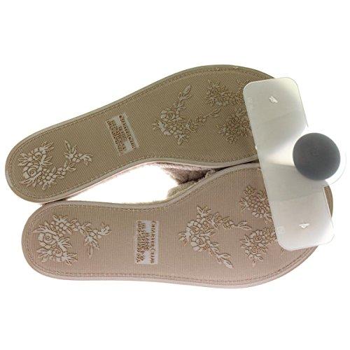 Pantofole Da Passeggio Open Space In Memory Foam, Talpa
