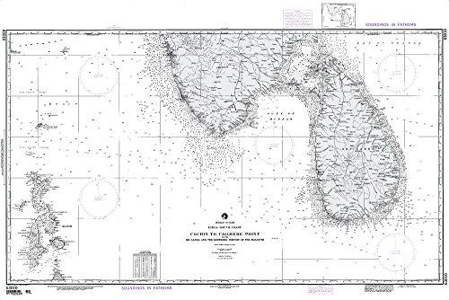 Sri Lanka Ruby - NGA Chart 63010: Cochin to Calimere Pt. With Sri Lanka [I (WATERPROOF) 35.5 x 52