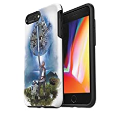 OtterBox SYMMETRY SERIES STAR WARS Case for iPhone 8 Plus & iPhone 7 Plus (ONLY) - Retail Packaging - ON AHCH-TO (BLACK/BLACK/ON AHCH-TO)