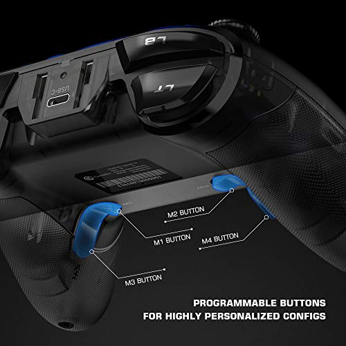 GameSir T4 Pro Wireless Game Controller para Windows 7 8 10 PC / iOS / Android / Switch, Dual Shock USB Bluetooth Teléfono móvil Gamepad Joystick para Apple Arcade MFi Games, Retroiluminación LED semitransparente