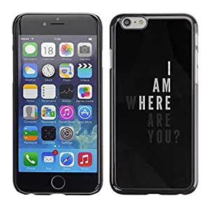 Plastic Shell Protective Case Cover || Apple iPhone 6 || Am Love Poster Quote Black White @XPTECH