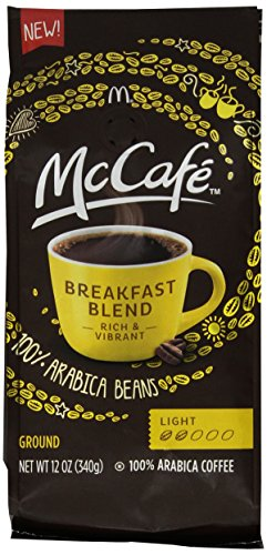 Breakfast Blend Ground (McCafe Coffee Ground Coffee, Breakfast Blend Light Roast, 12 Ounce (Pack of 6))