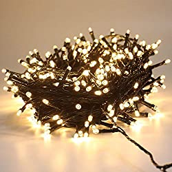 Green Convenience 108ft 300 LED Christmas String Lights, Waterproof Fairy Rope Lights Outdoor Indoor for Christmas Tree Decoration,Bedroom, Party, Wedding, Holiday Decor (Warm White)