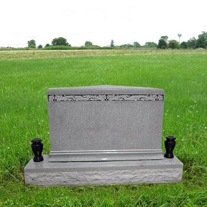 amazon com double marker headstone gravestone monument apex