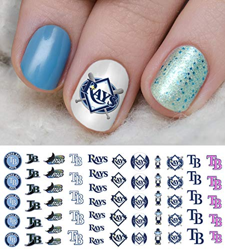 (Tampa Bay Rays Baseball Waterslide Nail Art Decals - Salon Quality)