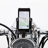 Ciro 50214 Handlebar Mount Smartphone/GPS Holder With Charger (Chrome Handlebar Mount Smartphone/Gps Holder With Charger Includes 1-1/4' Handlebar Mount)