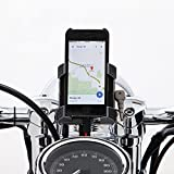 Ciro 50215 Handlebar Mount Smartphone/GPS Holder With Charger (Black Handlebar Mount Smartphone/Gps Holder With Charger , Includes 1-1/4'' Handlebar Mount)