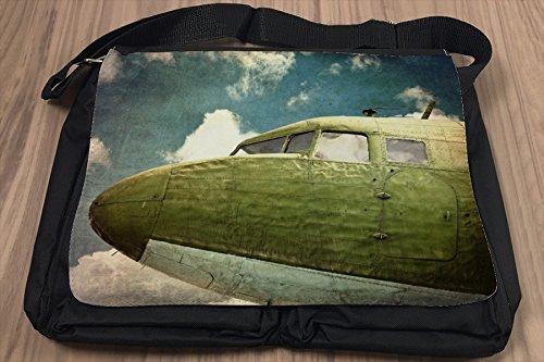 Umhänge Schulter Tasche Reisen Airport Flugzeug Cockpit bedruckt