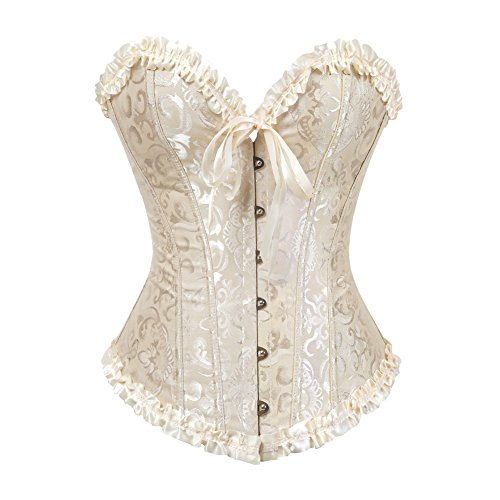Zhitunemi Plus Size Corsets for Women Beige Bustier