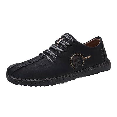 Juleya Hommes Chaussures - Confortable Oxfords Chaussures en cuir Low-Top Sneakers Slip On Casual en cuir mocassins chaussures pour pour Driving Car Walking Loisirs jaune / marron / noir