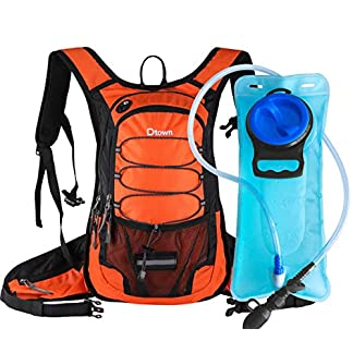 Dtown Hydration Backpack with 2L BPA Free Water Bladder, Water Backpack for Hiking, Cycling, Camping, Biking or Running… 8
